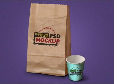 Coffee Cup & Logo PSD Mockup