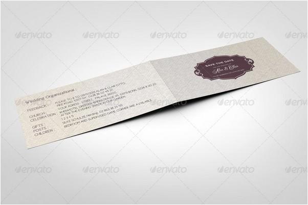 Dl Folded Invitation Card Mock Up Webrfree