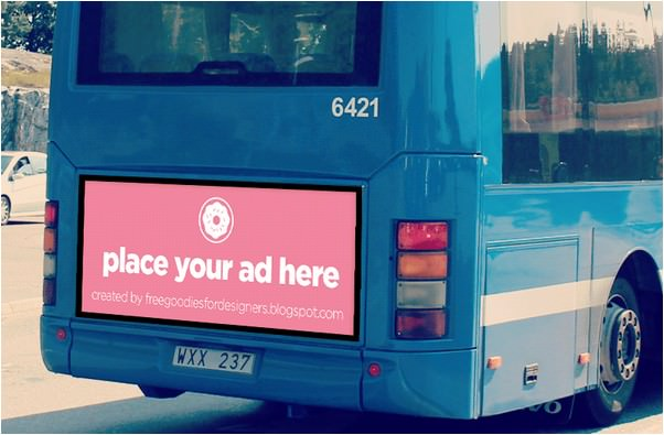 FREEBIE BUS BILLBOARD MOCKUP