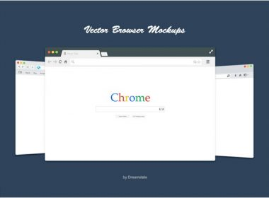 Flat Vector Browser Mockups