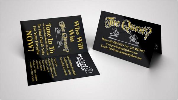 Folded Business Card Mockup 2