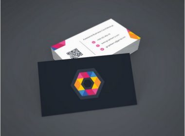 Folded Business Card Mockup Vol.9