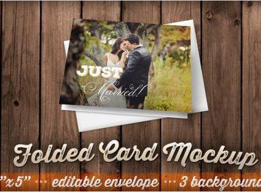 Folded Card Mockup