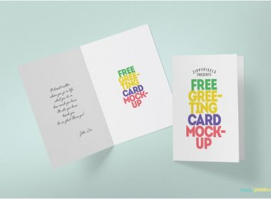 Folded Greeting Card Mockup