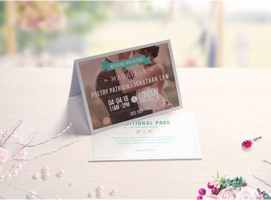 Folded Invitation & Greeting Card Mockups
