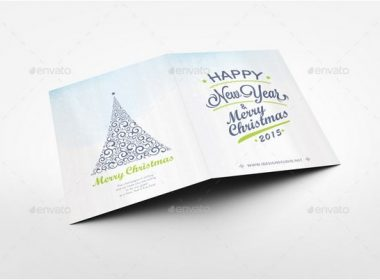 Folded Invitation and Greeting Card Mockup V4
