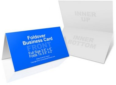 Foldover Business Card Action