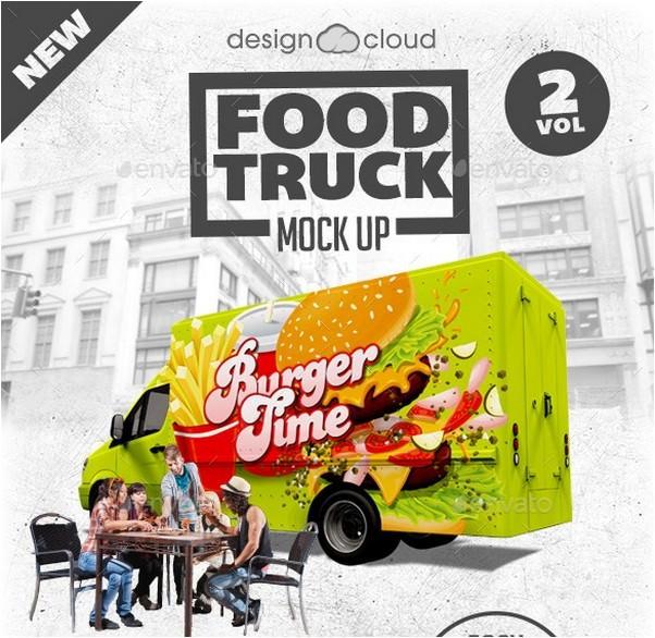 Food Truck Mock Up Kit Vol. 2