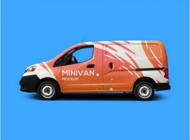 Free Minivan Mockup PSD