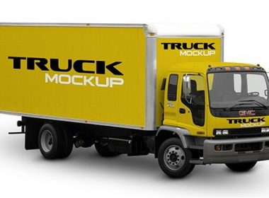 Free Mock-Up Truck Cargo PSD