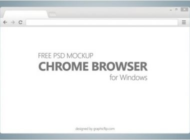 Free PSD Mockup for Chrome Browser
