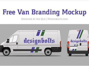 Free Van Car Branding Mock-up Ai & EPS Format
