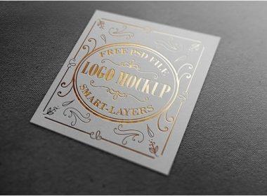 Gold and Silver Stamping Logo Mockup