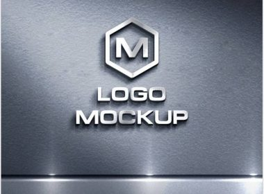 Logo Mock up on Metal Background