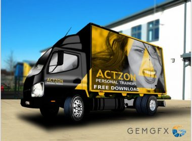 Lorry Truck Mockup