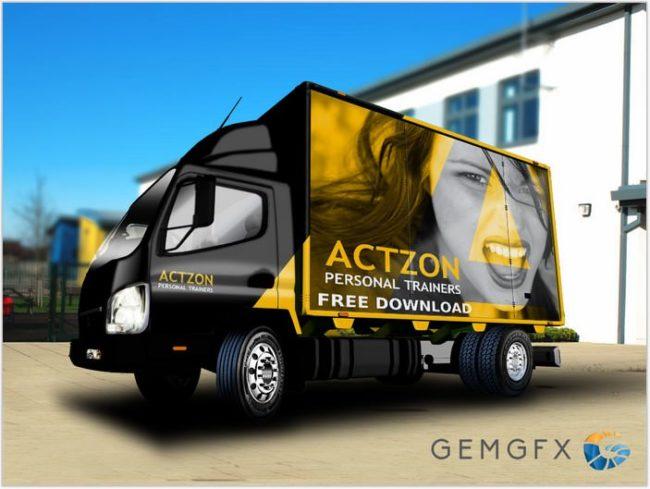 Lorry Truck Mockup