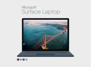 Microsoft Surface Laptop Flat Mockup