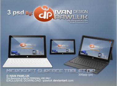 Microsoft Surface Tablet DIP PSD