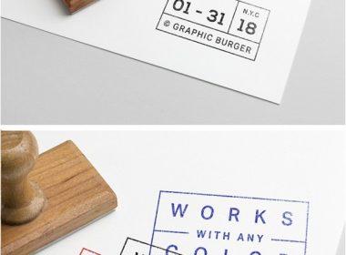 Rubber Stamp PSD MockUp #4