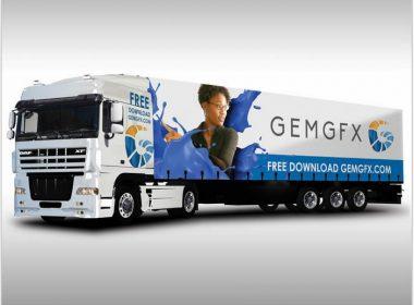 Semi Truck Mockup-125461