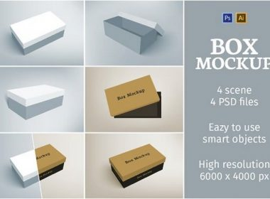 Shoes Packaging Box Mockup
