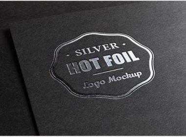 Silver Stamping Logo MockUp