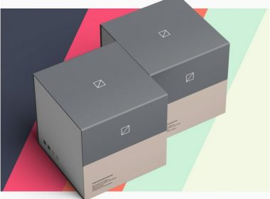 Slide Box Package Mockup