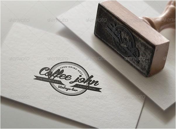 Stamp Logo Mock Up Set 2