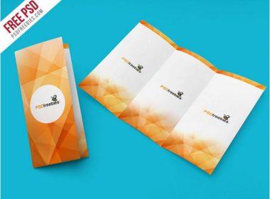 Tri Fold Brochure Mockup PSD Template # 2