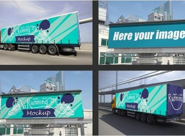 Truck and Billboard Mockup