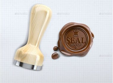 Wax Seal Stamp Mock-up