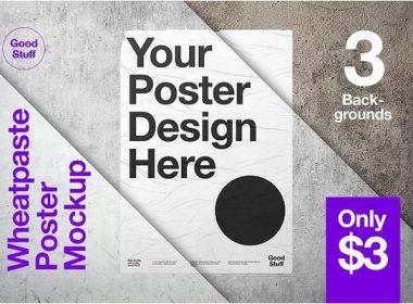 Wheatpaste Poster Mockup