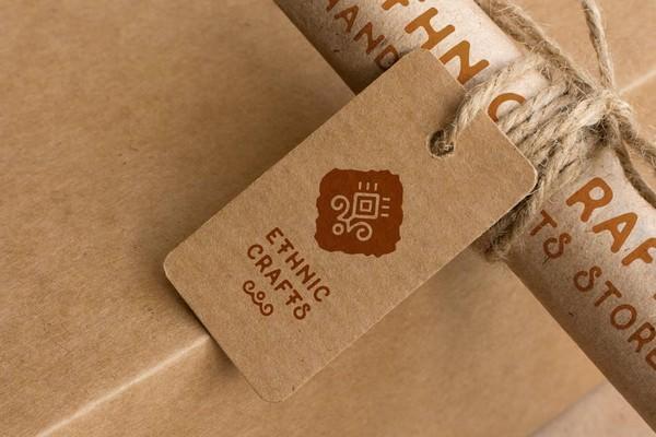 Cardboard Logo Mockup