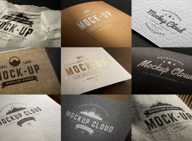 Editable Logo Mockup Set