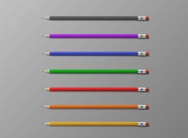Editable Pencils Mockup
