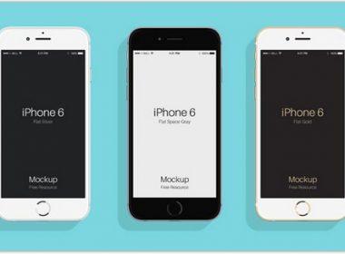 Flat Psd iPhone 6 & 6s
