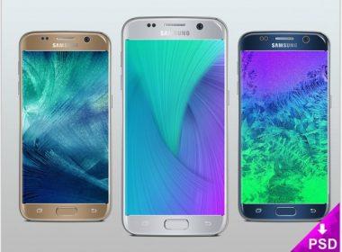 Free Galaxy S7 Silver Mockup