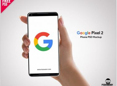 Free Google Pixel 2 Phone PSD