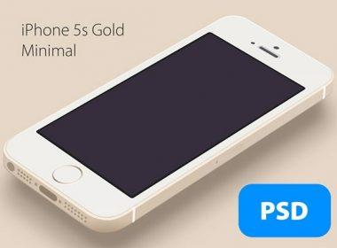 Gold Minimal iPhone 5S
