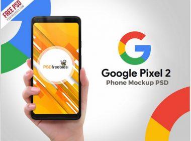 Google Phone Pixel 2 PSD Mockup