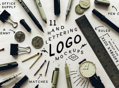 Hand Letter Logo Mockup