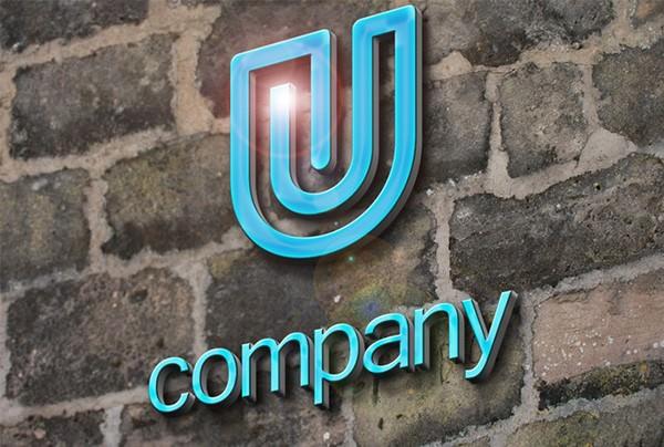 Realistic 3D Logo Mockup