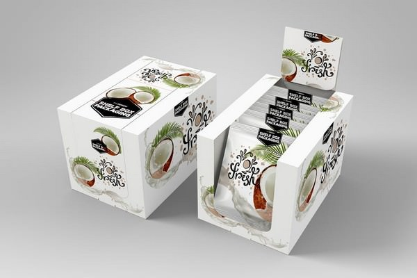 Shelf Box Packaging MockUp