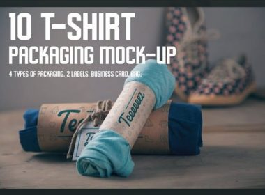 T-shirt Packaging Mock-up