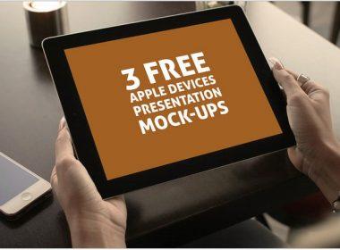 3 Free Presentation Mock-ups