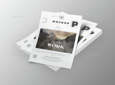 Simple A4 Poster Mockup PSD