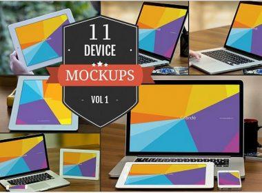 Apple Device PSD Mockups Vol. 1