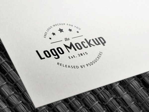 B&W Paper Logo MockUp