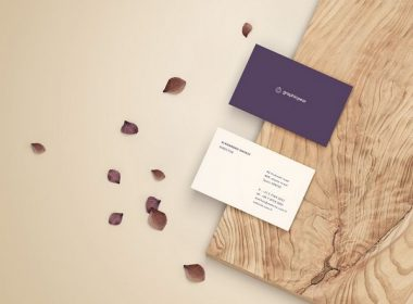 Business Card Mockup - Front and Back