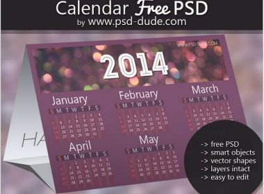 Calendar Photoshop PSD Free Template